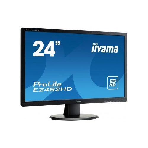 Iiyama ProLite E2482HD 24-Inch LED Monitor - Black (1920 x 1080, 250 cd/m2, 1000:1, 5 ms, DVI-D, VGA)