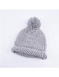 df8dcbb3c1257 JBLDY Sombrero de Lana Otoño E Invierno Hecho a Mano de Punto Sombrero de  Los Niños