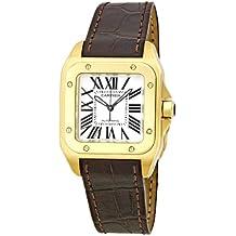 Cartier - Reloj de pulsera mujer, piel, color marrón