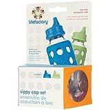 Lifefactory Sippy tapa juego, plástico, multicolor, 2piezas
