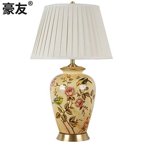 Keramische neue chinesische Tischlampe klassisches amerikanisches Hauptmodellraumhotel-Wohnzimmer großes Kupfer