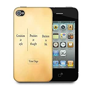 Snoogg Victor Hugo Designer Protective Phone Back Case Cover for Apple iPhone 4