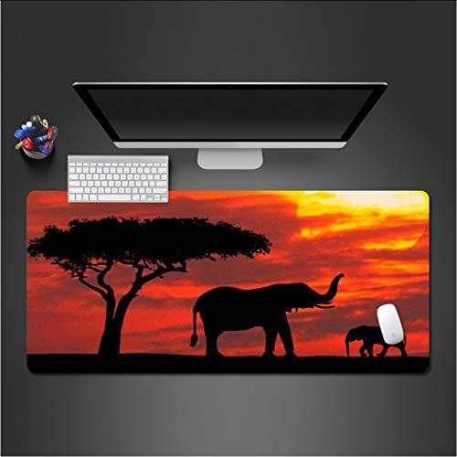 Elefantes en el Sunset Mouse Pad Juego para PC Los jugadores de...
