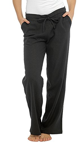Pantaloni con tasche da donna, in lino, stile casual  black 46