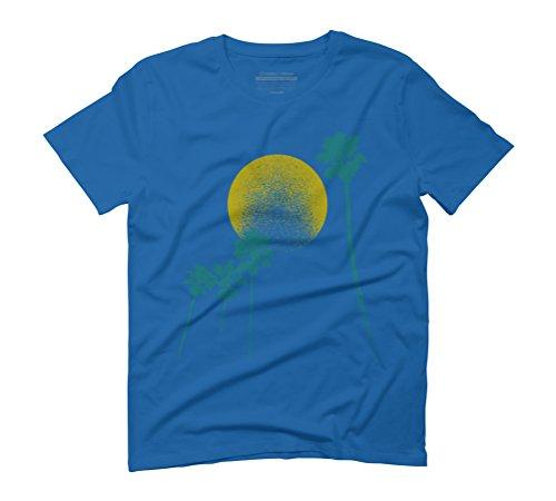 Design By Humans Herren T-Shirt Königsblau