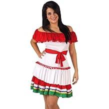 466ba36753 Desconocido Disfraz de mejicana para mujer