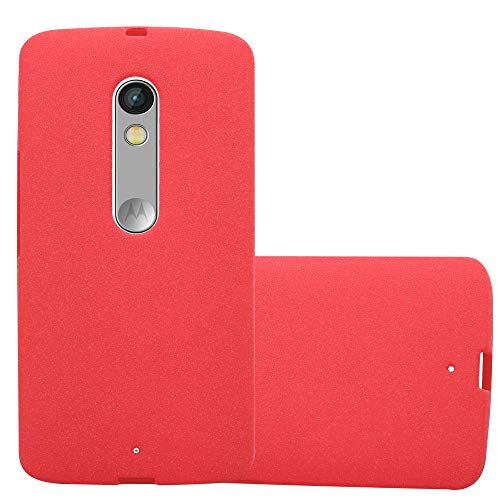 Cadorabo Coque pour Motorola Moto X Play en Frost Rouge – Housse Protection Souple en Silicone TPU avec Anti–Choc et Anti–Rayures – Ultra Slim Fin Gel Case Cover Bumper