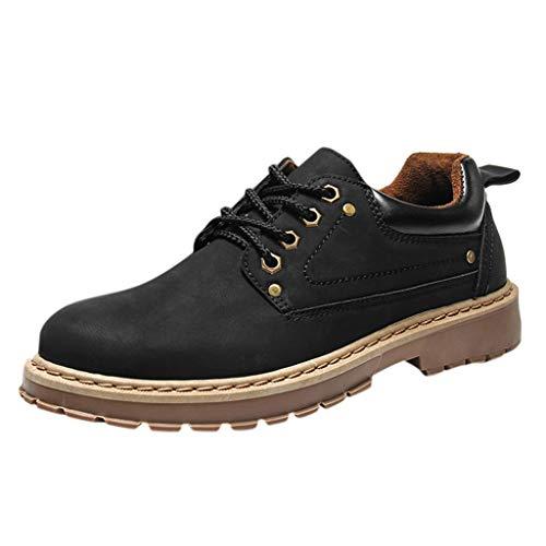 Suitray Herren Stiefel Cool Outdoor Verschleißfest Sneaker Freizeitschuhe Anti-Rutsch Stiefeletten Schnürhalbschuhe Mode Männer Herbst Boots Strassenmode Schuhwerk Schuhe