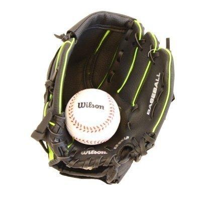 Wilson Ez Fang 10 Zoll Baseball Jugend Fäustling Doppel Finger Feldspieler Lh Handschuhe & Ball