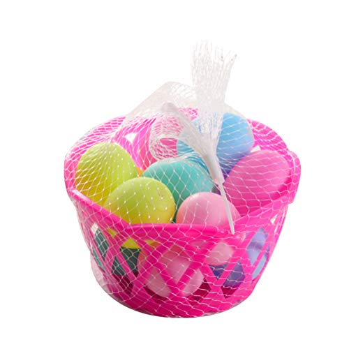 Toyvian Squeeze Sound Osterei Form Badespielzeug Lustige Badewanne Pool Wasser Badespielzeug für Kleinkind Kinder (10 Eier, 1 Korb) - Wanne-geschenk-korb