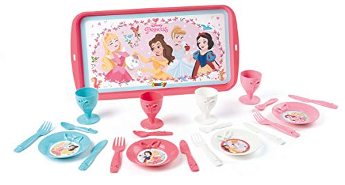 Smoby ? DP Disney Princess Tablett Dinette, 7/310575, Rosa / Blau, Weiß Preisvergleich
