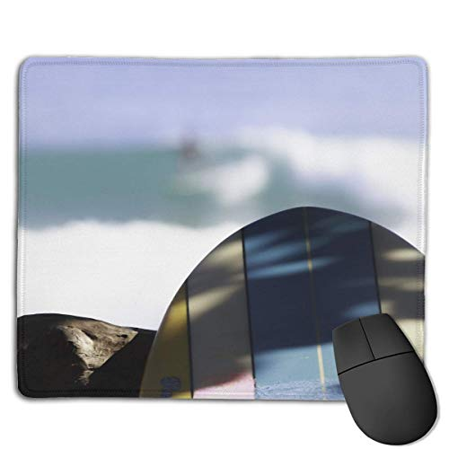 Preisvergleich Produktbild Mouse Pad Surf Board Wednesday Surfing Rectangle Rubber Mousepad 8.66 X 7.09 Inch Gaming Mouse Pad with Black Lock Edge