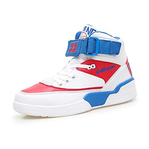FZUU Zapatillas Hombre Moda Top High Street Zapatos de Calle Deportes Casual Zapatos(40, Negro)