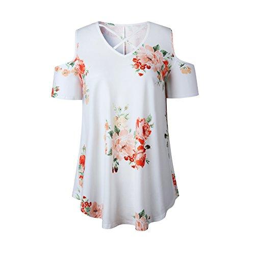 VLUNT Damen T-Shirt Weiß