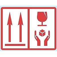 Price Stickers 103 x 80mm fácil de entender Universal ADHESIVOS PARA EMBALAJE - ESTE Way Up/Frágil O This Way Up/PESADO - 103 x 80mm This Way Up/Fragile Handle With Care