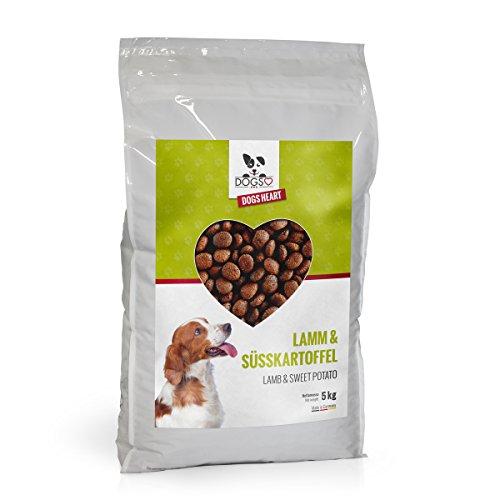 DOGS-HEART Lamm & Süsskartoffel 5kg - Getreidefreies Hundefutter mit hohem Fleischanteil, Bestes Futter ohne künstliche Zusätze mit Mineralien und Vitaminen für gute Verdauung, starke Knochen und glänzendes Fell (5 kg)