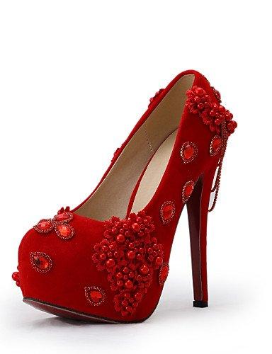 WSS 2016 Chaussures de mariage-Rouge-Mariage / Habillé / Soirée & Evénement-Talons-Talons-Homme 5in & over-us6 / eu36 / uk4 / cn36