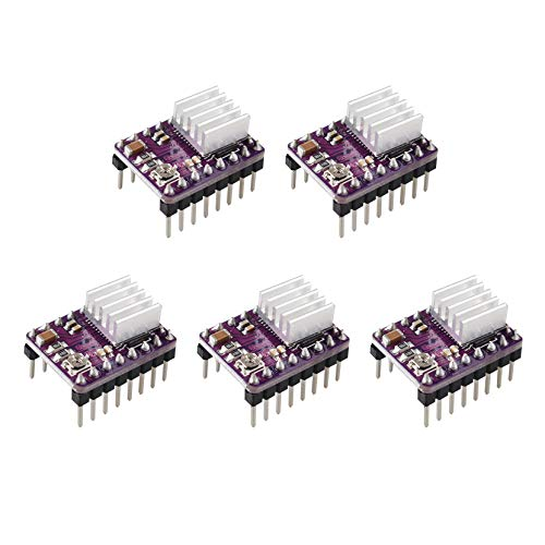 StepStick DRV8825 - Módulo de reprap para motor paso a paso de 4 capas PCB con mini disipador de calor para impresoras 3D Ramps1.4 A4988 (5 unidades)