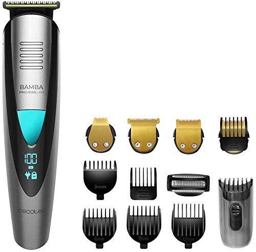 Cecotec afeitadora Bamba PrecisionCare Multigrooming Pro. Multifunción 5 en 1,waterproof, batería...