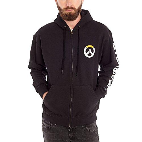 Overwatch-Logo-Kapuzen-Jacke-schwarz