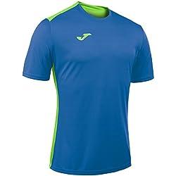 Joma 100417.720 - Camiseta de equipación de manga corta para hombre, color azul royal / verde flúor, talla M