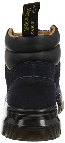 Dr. Martens Rakim, Bottes Motardes Mixte Adulte, Noir Bleu (Indigo/dress Blues Rhombus Nylon Mesh/hi Suede Wp)