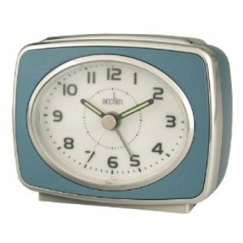 Acctim 13879 Retro 2 Alarm Clock, Blue