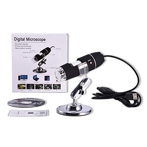 WEIWEITOE Tragbare Größe LED Digital Mikroskop USB Endoskop Kamera Mikroskop Lupe Elektronische Mikroskop Mit Ständer, schwarz, -