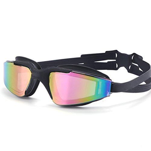 Schwimmen-Schutzbrillen-Glas-großer Kasten HD Anti-fog Wasserdichte überzogene Einfache Männer Und Frauen-Kinderschutzbrillen,Black
