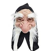 Bristol Novelty BM232A Gnome with Hood/Beard White Mask, One Size