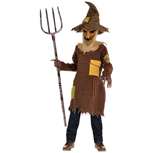 Scary Scarecrow Boys Fancy Dress Halloween Märchen Horror Kinder Kinder Kostüm (12-14 Jahre (Scarecrow Kostüme Boy)