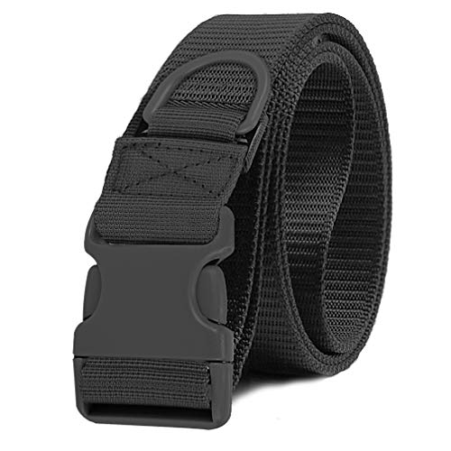 Selighting Cinturón Molle Táctica Militar de Nylón, Correa Policia de Seguridad para Airsoft, Caza, Deportes al Aire Libre (Negro)