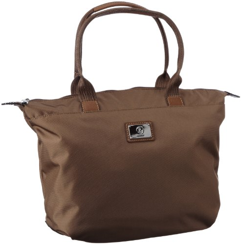 Bogner Leather Saba 1203818, Borsa a spalla donna, 40x28x13 cm (L x A x P) Marrone (Braun (teak 005))