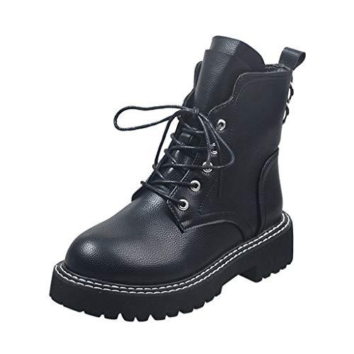 Kinlene Stivaletti Invernali da Donna con Lacci Med Cool Punk Stile Britannico alla Caviglia Scarpe in Vendita