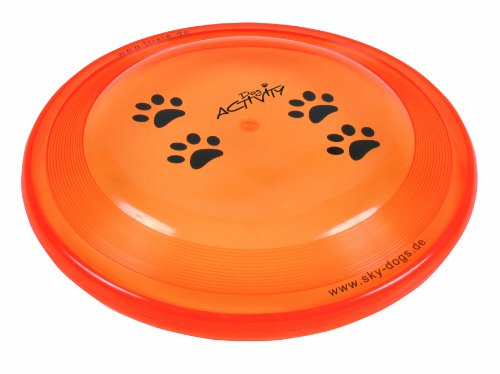 Trixie Dog Activity Disc Dog Bite-Proof, Gioco per cani, Diametro 23cm, Colori assortiti, 1 pezzo