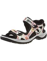 ECCO Women's Offroad White Flowerprint Hiking Sandals