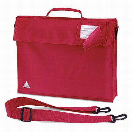 Quadra junior book bag with strap in red