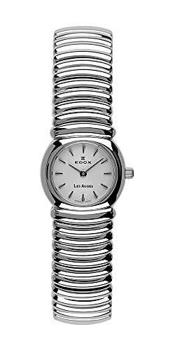 Reloj de Mujer Edox Les auges 21148/L3con Movimiento de Cuarzo, Caja y Pulsera de Acero Brillante