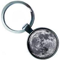 NASA Photograph The Moon Silver Keychain La luna Argento Portachiavi
