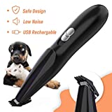 Pet Grooming Clipper, Cat Dog Clipper Pet Hair Trimmer, Rechargeable Wireless Design Low