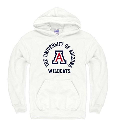 Weiße Arizona Sweatshirt (Campus Colors Campus Farben Arizona Wildcats Erwachsene NCAA Team Spirit Kapuzen Sweatshirt, Weiß, Herren, Weiß, Large)