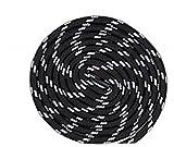Boowhol 1 Paire de Lacets Ronds Largeur 4.5 MM résistant à l'usure différentes Couleurs et Longueurs Idéal pour Les Sports (Noir Blanc, 100 CM)