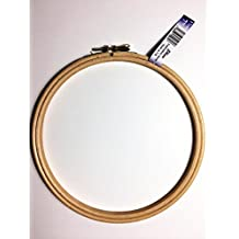 Elbesee Embroidery Hoop with Metal Screw Fastening, Wood, 7-Inch