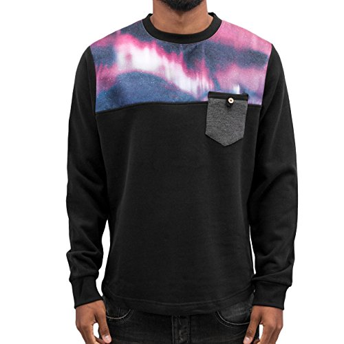 Just Rhyse Herren Oberteile / Pullover Nightlights Schwarz
