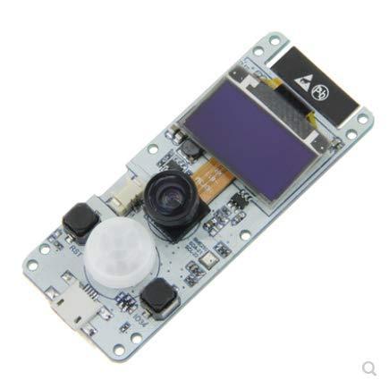 Innovateking-EU ESP32 Camera Module T-Camera Kameramodul T-Kamera ESP32 WROVER PSRAM Kameramodul 4MBytes SPRAM ESP32-WROVER-B OV2640 Kameramodul mit 0,96 Zoll OLED-Fischaugen-Objektiv