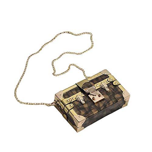 Box weiblichen Tasche Textur eine Schulter umwickelt kleine Tasche Kette kleine quadratische Tasche Champagner Gold