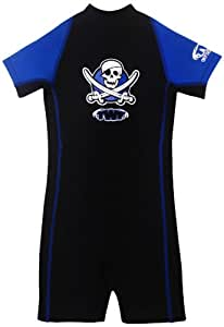 TWF Kids Pirate Shortie Wetsuit - Blue, 1-2 Year, K00
