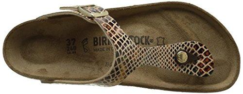 Birkenstock Gizeh Shiny Snake Sand, Sandales femme Multicolore (Shiny Snake Sand)