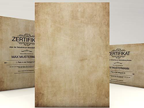 Urkundenpapier Vintage Classic, 100 Blatt für Zertifikate DIN A4, 190g/qm