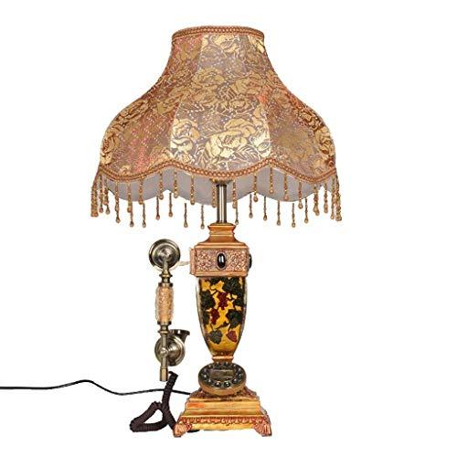 Chuen lung telefono fisso vintage progettato con lampada da tavolo classica retrò per la decorazione della casa camera da letto regalo di compleanno della novità della novità